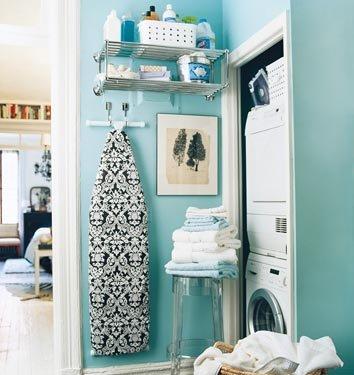 Decora o e projetos decora o de rea de servi o pequena - Organizador de lavanderia ...
