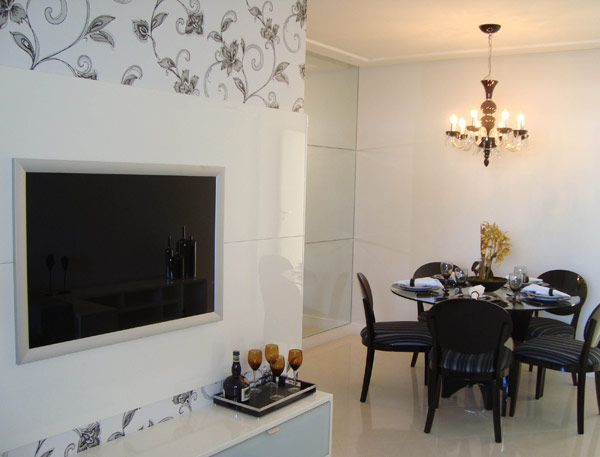 Decoracao De Sala Com Tv Na Parede ~ Decoração e Projetos – TV na parede da sala – Dicas de