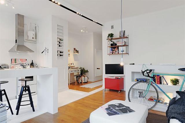 Decora o de kitinetes pequenas com fotos - Cucina birichina quarto ...