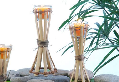Decora o e projetos decora o com bambu para casamento for Arreglo de boda en jardin
