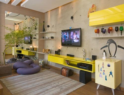 Sala Com Tv Na Parede ~ Decoração e Projetos – TV na parede da sala – Dicas de