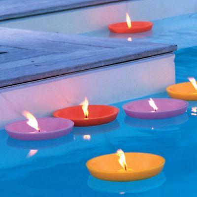 decora o de piscinas com velas