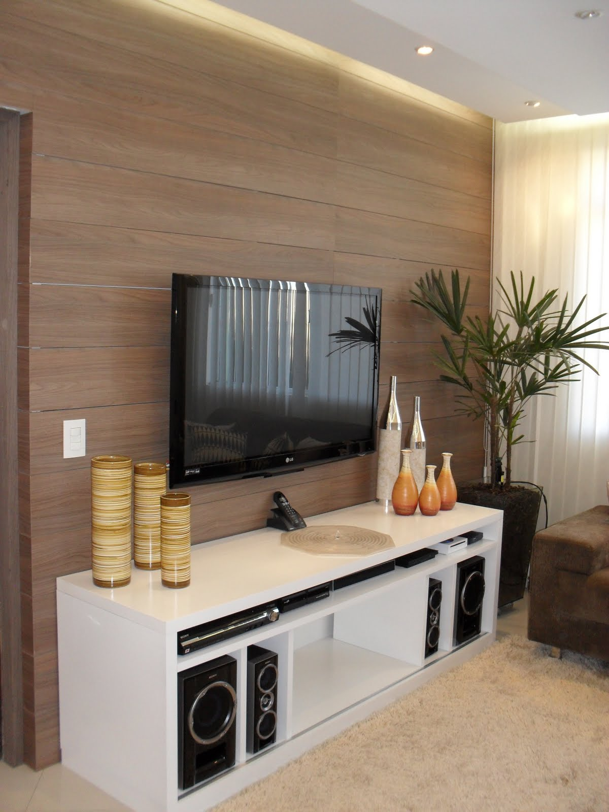 Modern Living Room Tv Unit Designs Decora 231 227 O E Projetos Enfeites Para Rack Acess 211 Rios Para