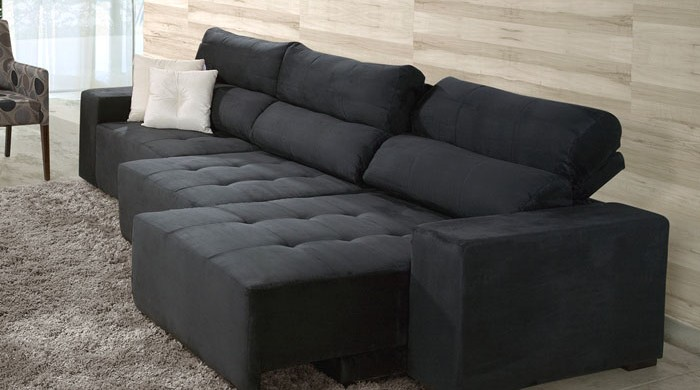 Decora o e projetos modelos de sof s retr teis fotos Modelos de sofas para salas
