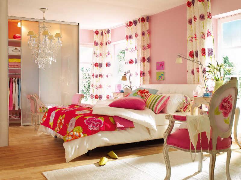 Dicas para decorar o quarto feminino for Modern floral bedroom ideas