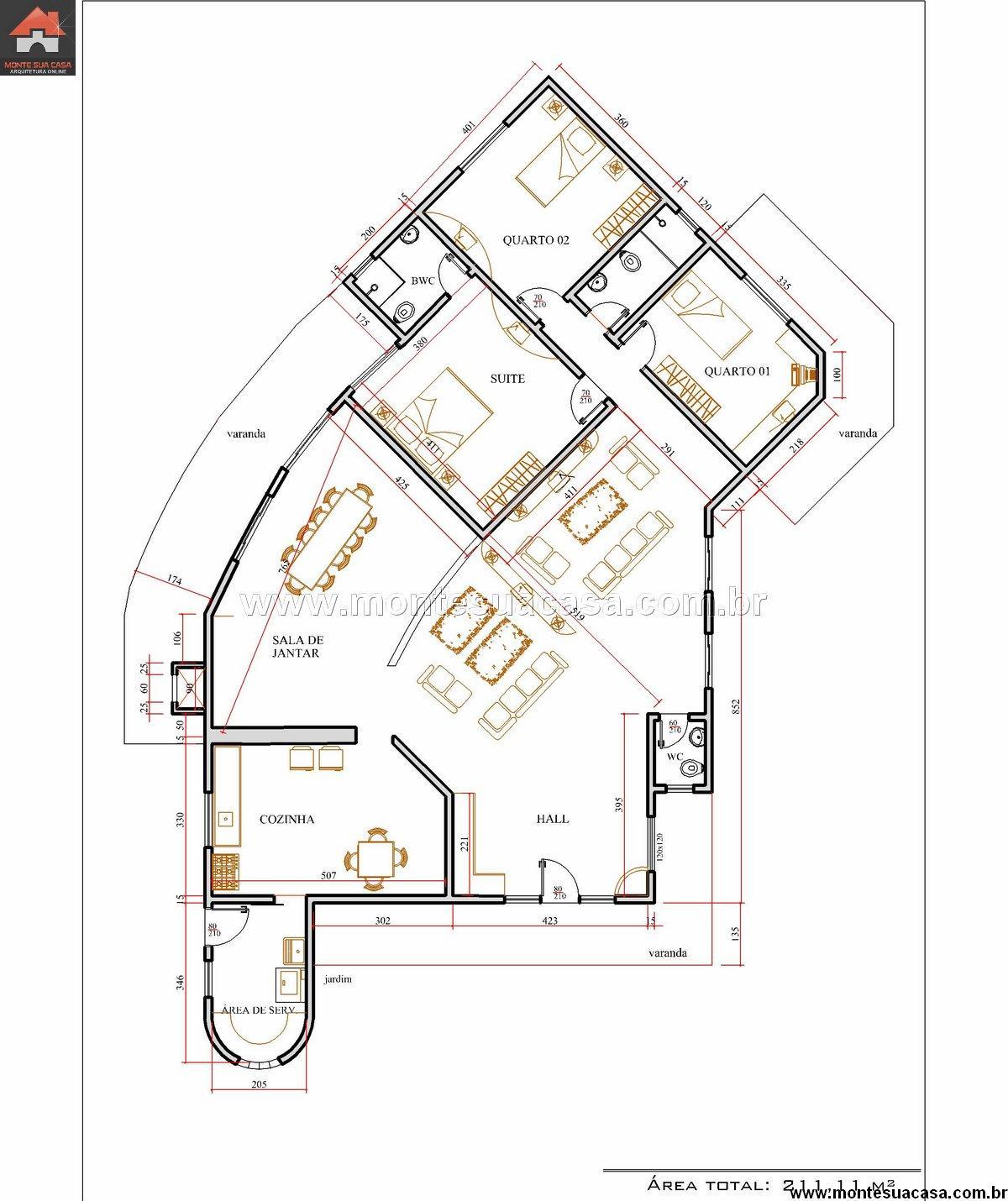 Decoração e Projetos – Projetos de casas grandes e modernas #956136 1200 1430