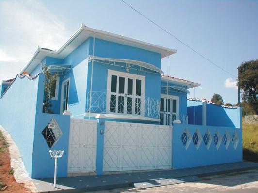 Cores para fachadas de casas dicas sugest es - Casas de color azul ...