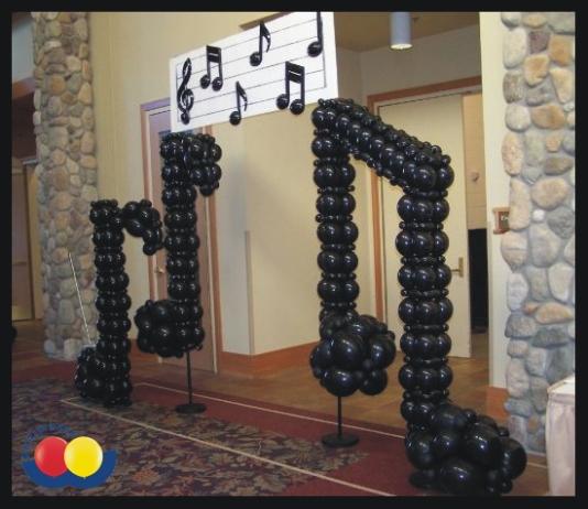 decoracao festa notas musicais: Projetos – Decoração com notas musicais para aniversário