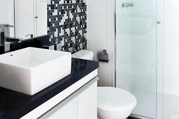 decoracao de banheiro retangular pequeno : decoracao de banheiro retangular pequeno:Decoração e Projetos – Bancadas de granito para banheiros pequenos