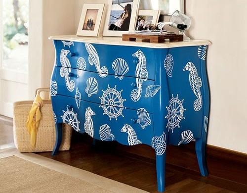 Decora o e projetos m veis antigos restaurados coloridos - Restaurar muebles con papel ...