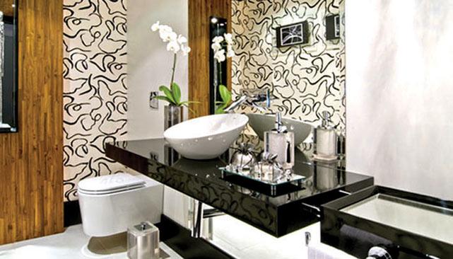 decoracao piso branco:Decoração e Projetos – Modelos de banheiros preto e branco