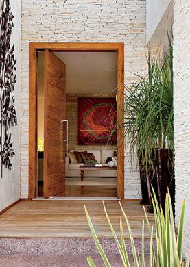 Decora o e projetos revestimento para frente de casa for Fachadas de casas con azulejo