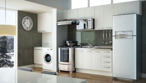 decoracao cozinha e area de servico integradas:Optar Por Cozinha E Lavanderia Integrada é A Melhor Opção
