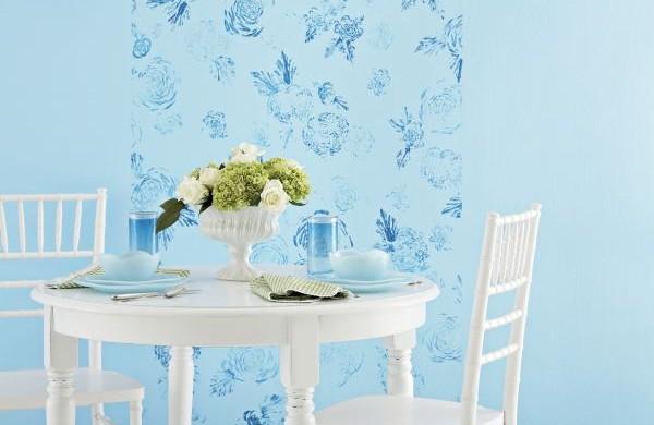 Decoração com carimbo de parede é uma boa opção para quem não quer usar papel de parede (Foto: Divulgação)