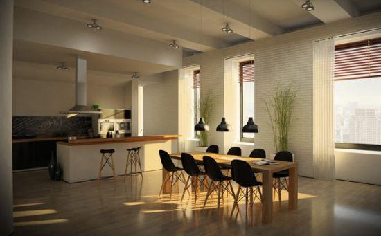 Decora o e projetos decora o para loft masculino for Modelos de cocina comedor modernos