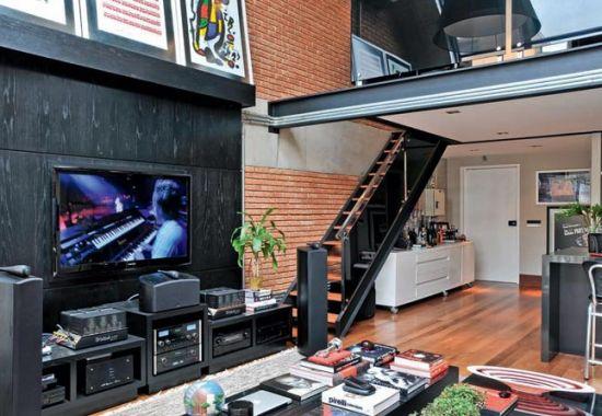 A decoração para loft masculino pode ser tanto mais clássica quanto seguir a personalidade do morador (Foto: Divulgação)