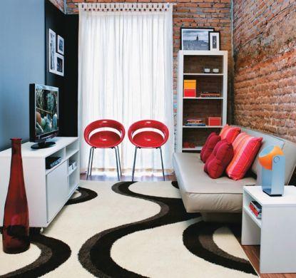 Decora o e projetos decora o de salas com sof cama for Salas con sofa cama