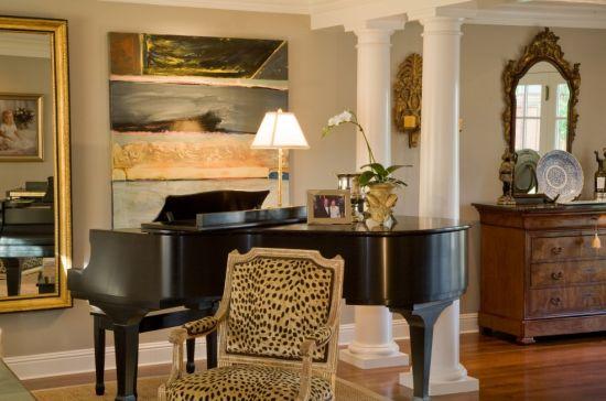 A decoração com móveis estampados é ótima opção para quem pretende valorizar o ambiente sem gastar muito (Foto: Divulgação)