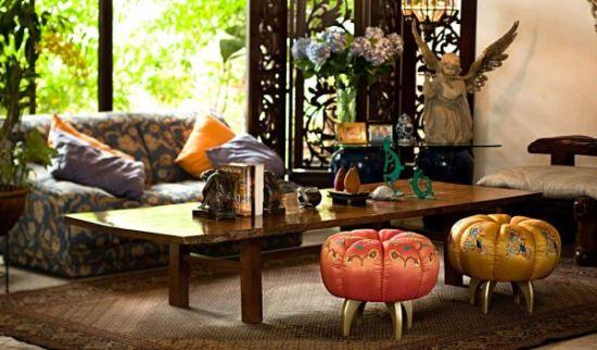 A decoração para sala com pufes deixará toda a sua casa muito mais charmosa (Foto: Divulgação)