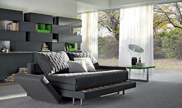 A decoração de salas com sofá cama pode ficar sim, muito interessante e até sofisticada (Foto: Divulgação)