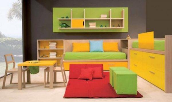 A decoração de quarto de criança partilhado pode ser também funcional, além de embelezar todo o cômodo (Foto: Divulgação)