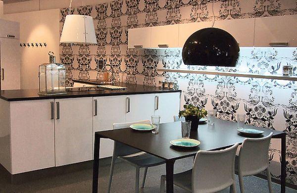 Decora o e projetos decora o com papel de parede para - Papel pintado para cocinas modernas ...