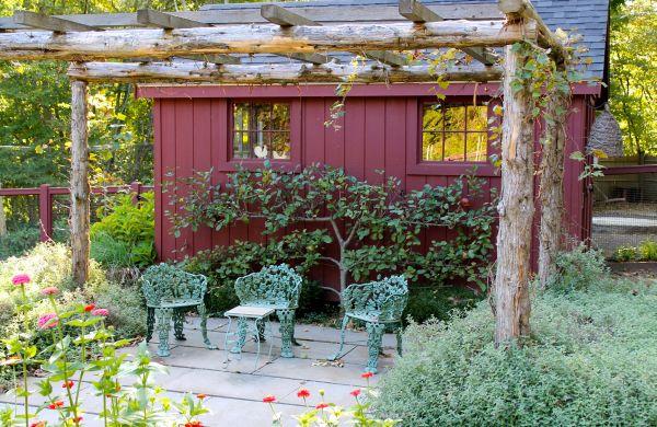 decoração de jardins com caramanchão