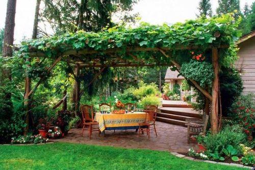 Decoração e Projetos – Decoração de Jardins com Caramanchão