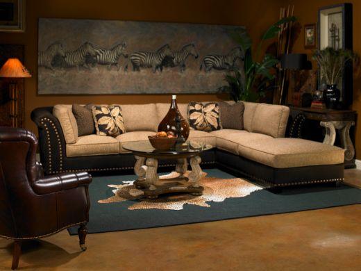 Decora o e projetos decora o ex tica com estilo africano - Sofa afrika style ...