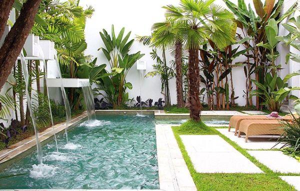 Decora o e projetos decora o para rea de piscina pequena - Depuradoras para piscinas pequenas ...