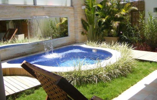 Decora o e projetos decora o para rea de piscina pequena for Construccion de albercas pequenas