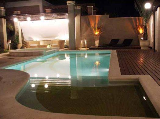 Decora o e projetos decora o para rea de piscina pequena - Piscina prefabricada pequena ...