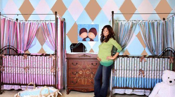 A decoração para quarto de bebês gêmeos pode ser ao mesmo temo charmosa e barata (Foto: Divulgação)