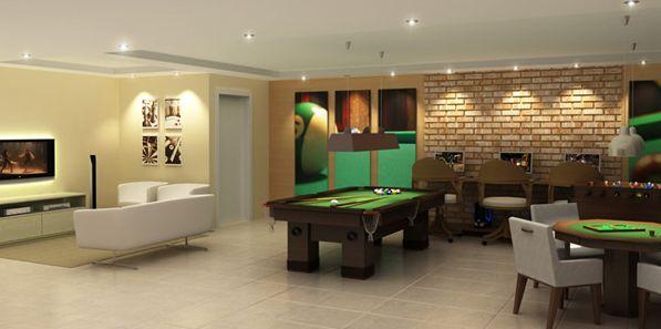 Os projetos de decoração para sala de jogos não precisam ser caros (Foto: Divulgação)