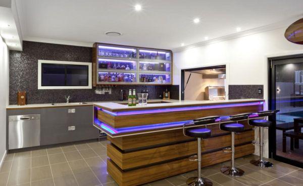 A decoração com bar contemporâneo deixará sua casa muito mais atraente e atrairá muito mais amigos (Foto: Divulgação)