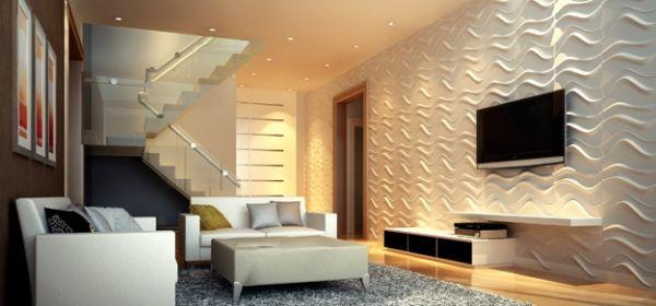 A decoração de parede 3D deixará seu lar muito mais interessante (Foto: Divulgação)