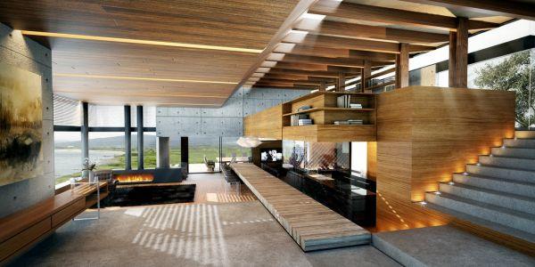A decoração de interiores com concreto pode ser incorporada em qualquer cômodo e utilizar materiais alternativos, além do cimento (Foto: Divulgação)