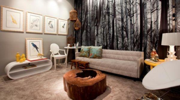 A decoração com móveis de madeira bruta garantem toque mais rústico ao ambiente e você pode usá-los mesmo em espaço mais contemporâneos (Foto: Divulgação)