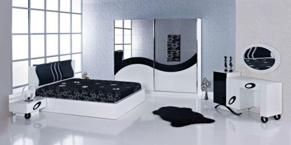 O quarto feminino preto e branco não precisa aparentar um clima melancólico ou muito sóbrio, e para isso basta você optar pelas peças mais modernas e diferenciadas (Foto: Divulgação)