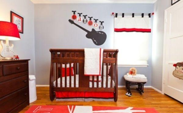 A decoração com estilo rock para quarto de bebê pode seguir por várias vertentes diferentes, basta você escolher o que mais tem em comum com o estilo da família (Foto: Divulgação)