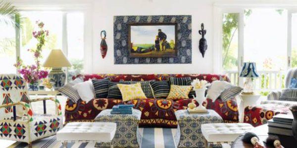 A decoração de casas com estampas diferentes está em alta no universo da decoração e é ótima opção para quem quer alegrar o lar neste verão (Foto: Divulgação)