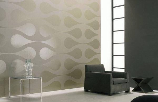 A decoração de paredes com textura é uma saída para quem não quer trocar móveis ou peças de decoração (Foto: Divulgação)