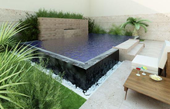 Decora o e projetos projetos de piscinas para espa os - Piscinas para jardines pequenos ...