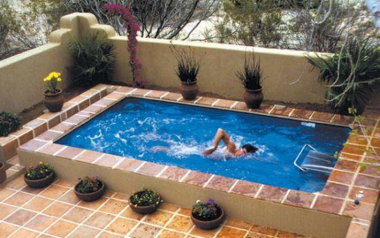 fotos jardins piscinas:Decoração e Projetos – Projetos de Piscinas para Espaços Pequenos