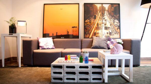 A decoração com blocos de concreto é bem barata e garante visual renovado para seus ambientes (Foto: Divulgação)