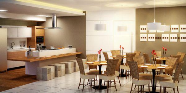 A decoração de casas com integração gourmet pode seguir vários estilos, dependendo doa espaço disponível em seu lar (Foto: Divulgação)