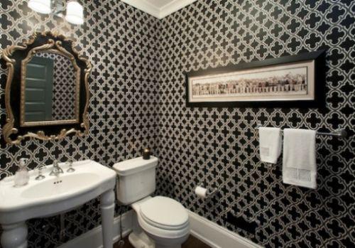 A decoração de lavabos com papel de parede deixa seu ambiente mais sofisticado (Foto: Divulgação)