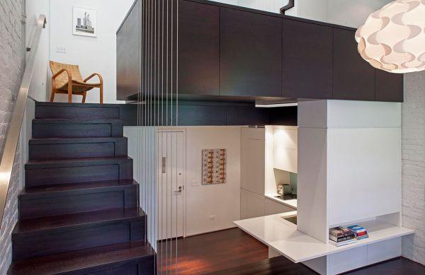 Um projeto de loft pequeno bem interessante é o que otimiza todo o espaço, aproveitando cada cantinho (Foto: Divulgação)