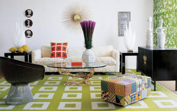 A decoração de casas com motivos geométricos é ótima saída para quem gosta destes formatos (Foto: Divulgação)