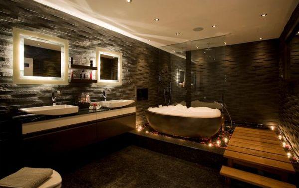 Banheiros De Luxo Decorados Banheiros Modernos Preto Banheiros Pictures to pi -> Banheiros Decorados Luxo